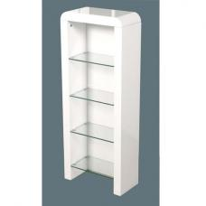 Genial Norset CD DVD Storage Unit In White Gloss With 4 Glass Shelf