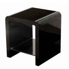 Norset Modern End Table Square In Black Gloss