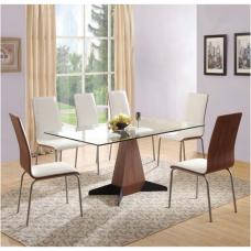 Oreo Clear Glass Dining Table And 6 Oreo Chairs