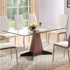 Oreo Clear Glass Dining Table Only