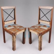 Origin Wooden Dining Chair In Reclaimed Timber In A Pair