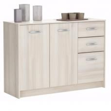 Osaka Sideboard In Acacia With 3 Doors And 2 Drawers