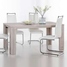 Oscar Wooden 160cm Dining Table Rectangular In Nelson Oak