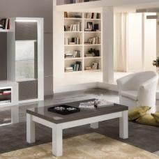 Pamela Coffee Table Rectangular In White And Grey High Gloss