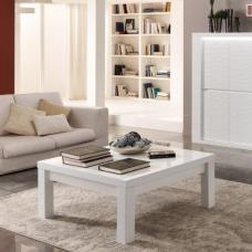 Agatha high gloss white coffee table with glass shelf 20159