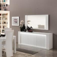 Pamela Sideboard In White High Gloss With Lighting
