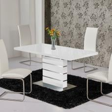 Parini Extendable Dining Table Rectangular In White Gloss