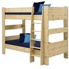 Pathos Wooden Bunk Bed In Pine With Ladder