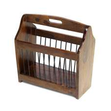 Payton Contemporary Wooden Magazine Rack In Sheesham Hardwood