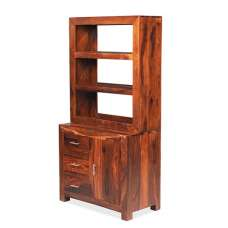 Payton Wooden Small Display Cabinet In Sheesham Hardwood