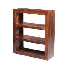 Payton Wooden Shelving Unit Small In Sheesham Hardwood