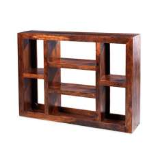 Payton Wooden Shelving Unit Wide In Sheesham Hardwood