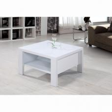 Peru High Gloss White Square Coffee Table