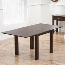 Platina Wooden Flip Top Extendable Dining Table In Dark Oak