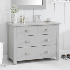 Platina Small Chest Of Drawers In Grey With 4 Drawers
