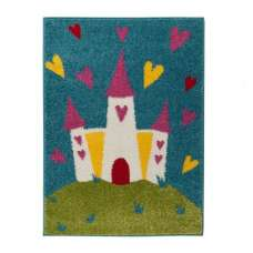 Play Days Princess Castle Mulit Color Rug