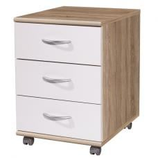 Add on 6 drawer chest in white gloss 20503 furniture in for Ladenblok retro