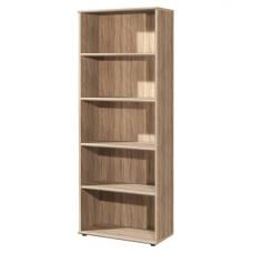Power Wooden Home Office Shelving Unit In Sonoma Oak And 4 Shelf