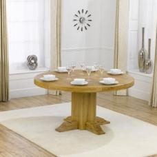 Prado Wooden Dining Table Round In Solid Oak