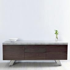 Presto Wooden Sideboard In Concrete Effect With Steel Legs