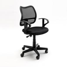 Primera Modern Office Chair In Black Mesh With Castors