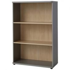Profi Contemporary Shelving Unit Small In Maple And Silver