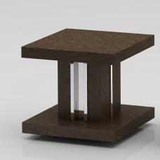 Provence Wooden End Table Square In Dark Elm Veneer