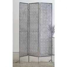 Purley Metal Room Divider In Antique Silver