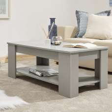 Raymond Coffee Table Rectangular In Grey With Lift Up Top