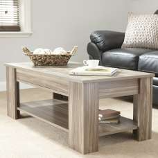 Raymond Coffee Table Rectangular In Walnut With Lift Up Top
