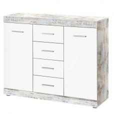 Rayton Contemporary Wooden Sideboard In White And Fresko