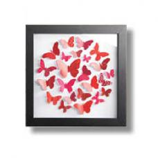 Red Butterflies Framed Art