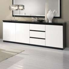 Regal Sideboard In Black And White With High Gloss Lacquer