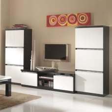 Regal Living Set 1 In Black White With Gloss Crystal Details