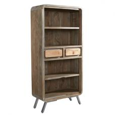 Reverso Wooden Bookcase Large In Reclaimed Wood And Iron