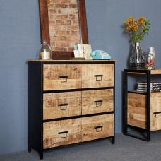 Clio Chest Of Drawers In Reclaimed Wood And Metal Frame