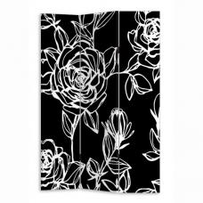 Rose Black And White Room Divider In Canvas