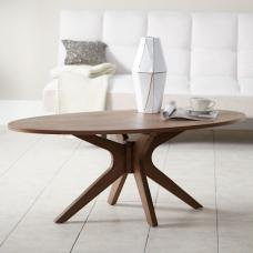 Rosalyn Contemporary Wooden Coffee Table In Walnut