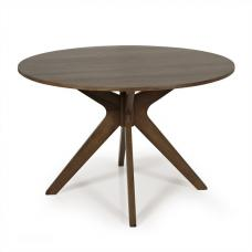 Rosalyn Wooden Dining Table Round In Walnut