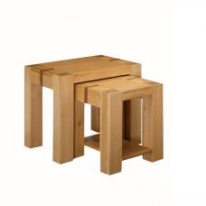 Rossdale Wooden Nest Of 2 Tables In Solid Oak