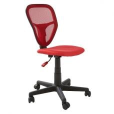 Rossi Modern Office Chair In Red With Castors