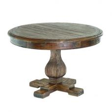 Rossini Wooden Dining Table Round In Walnut
