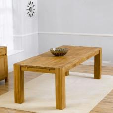 Rubis Wooden Large Dining Table Rectangular In Solid Oak