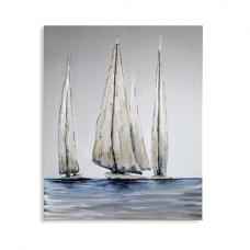 Sailing Canvas Oil Painting On Wooden Frame