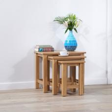 Abelia Wooden Nest Of Tables In Oak