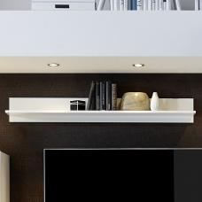 Santino Wall Mounted Display Shelf In White High Gloss