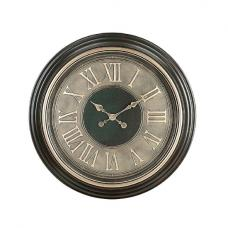 Sarah Wall Clock Round In Brown And Gold