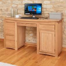 Seldon Wooden Computer Desk Rectangular In Oak