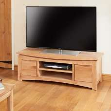 Seldon Wooden TV Stand Rectangular In Oak With 2 Drawers