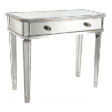 Serena Dressing Table In Clear Mirror With Silver Frame